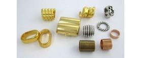 Μεταλλικά στοιχεία για κορδόνια 10mm & 12mm