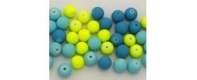 Γυάλινες χάντρες στρογγυλές 12mm