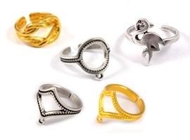 Βάσεις δαχτυλιδιών και εξαρτηματα
