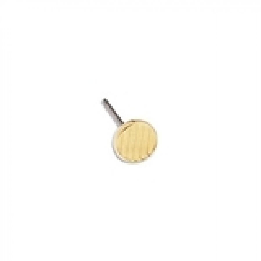 Σκουλαρίκια στρογγυλά με ρίγες 5.9mm με καρφί τιτανίου, επίχρυσα(24Κ) τιμή ανα ζευγάρι(δεν περιλαμβάνονται τα κουμπώματα-πεταλούδες)