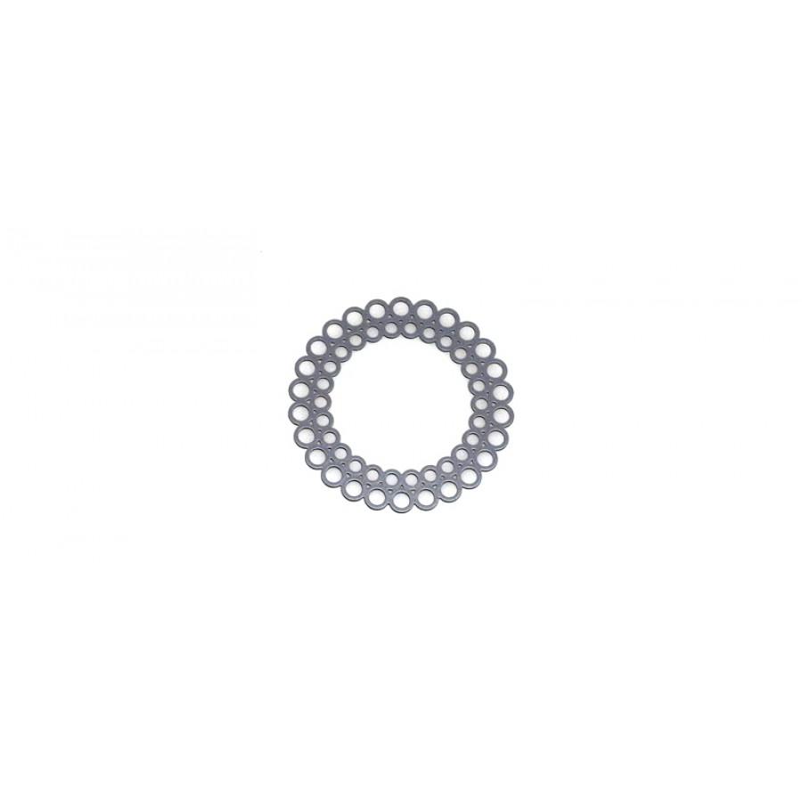 Mεταλλικό ορειχάλκινο μοτίφ στρογγυλό 35mm φιλιγκρί σε γκρι χρώμα     τιμή ανα τεμάχιο