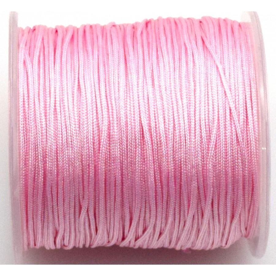 Κορδόνι κατάλληλο για μακραμέ 1mm-ΟΙΚΟΝΟΜΙΚΗ ΣΕΙΡΑ-σε ανοιχτό ροζ     τιμή ανα καρούλι ~100μέτρα