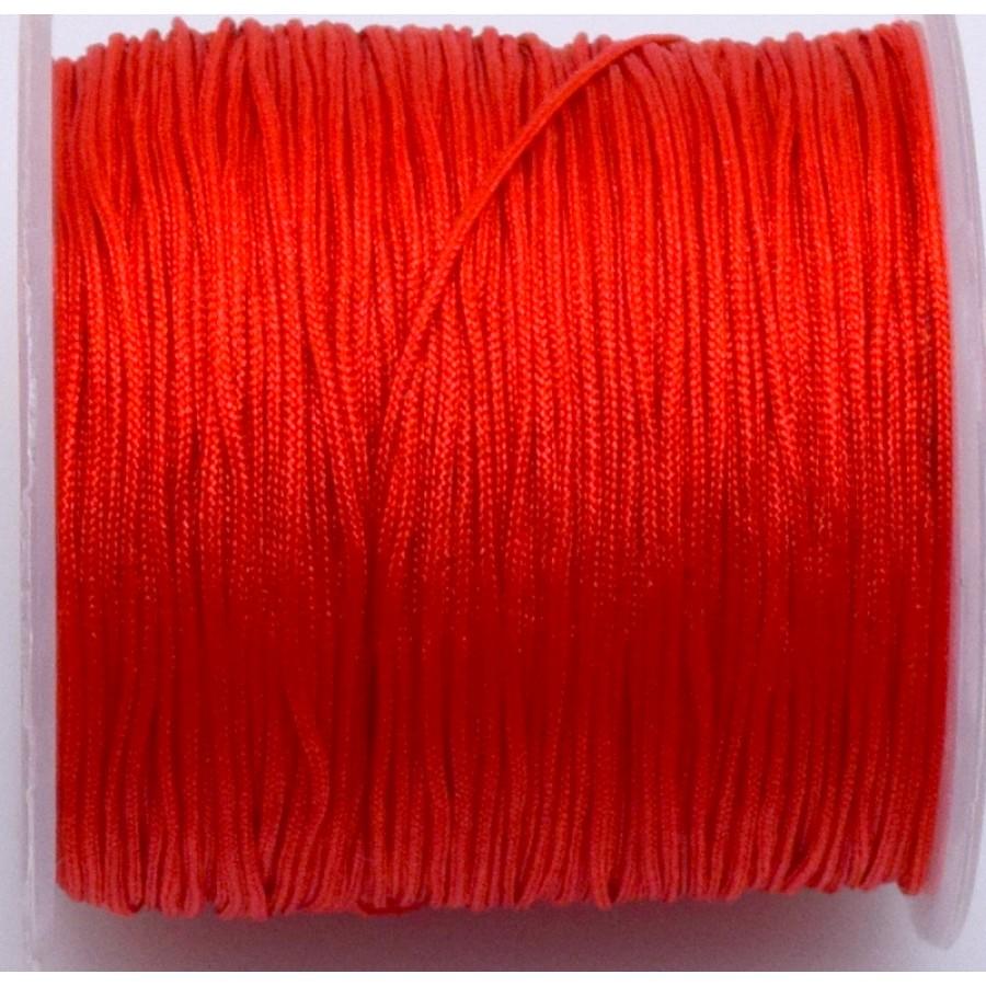 Κορδόνι κατάλληλο για μακραμέ 1mm-ΟΙΚΟΝΟΜΙΚΗ ΣΕΙΡΑ-σε κόκκινο     τιμή ανα καρούλι ~100μέτρα