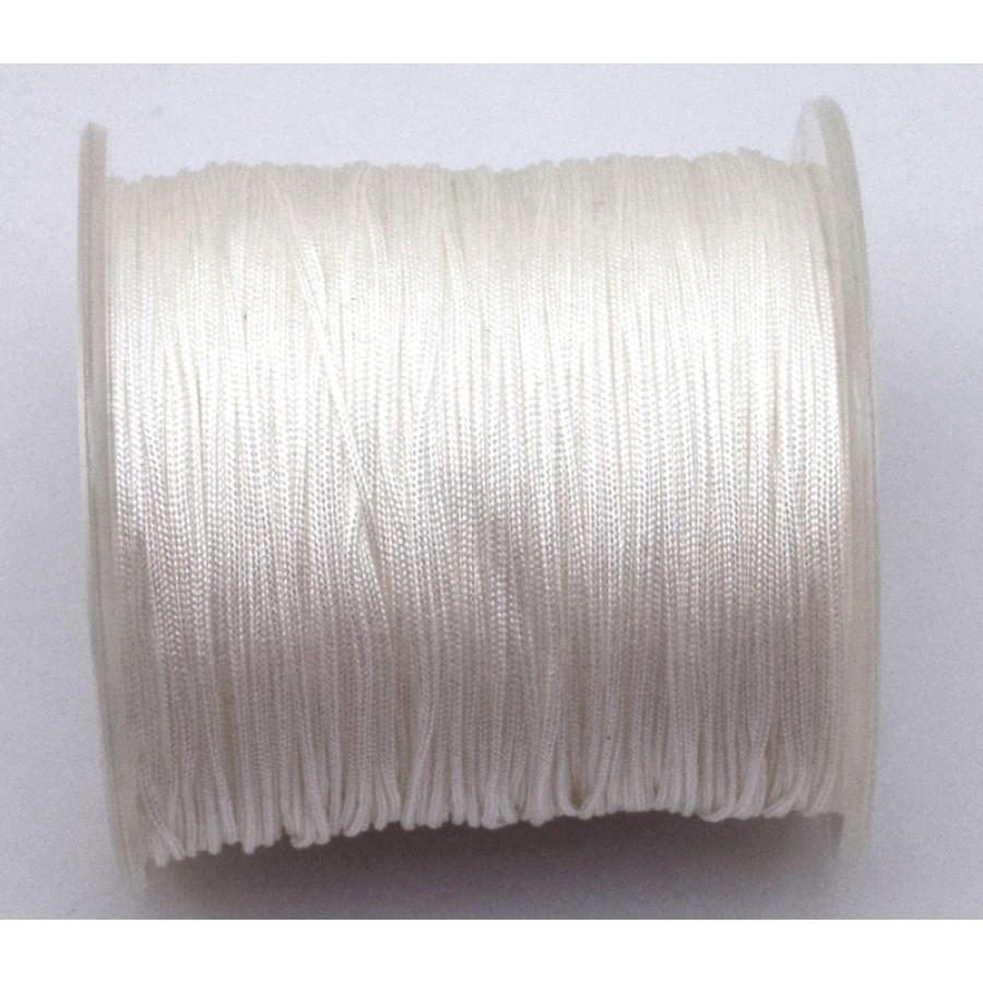 Κορδόνι κατάλληλο για μακραμέ 1mm-ΟΙΚΟΝΟΜΙΚΗ ΣΕΙΡΑ-σε άσπρο     τιμή ανα καρούλι ~100μέτρα