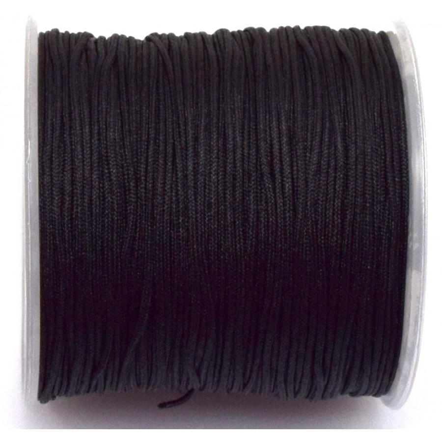 Κορδόνι κατάλληλο για μακραμέ 1mm-ΟΙΚΟΝΟΜΙΚΗ ΣΕΙΡΑ-σε μαύρο     τιμή ανα καρούλι ~100μέτρα