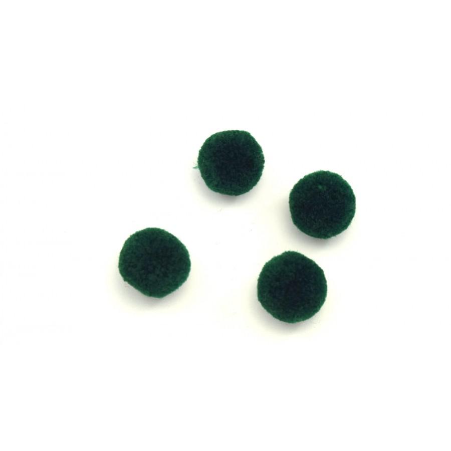 Πόν πον 15mm σε χρώμα κυπαρισσί τιμή ανα τεμάχιο(1 πον πον.)