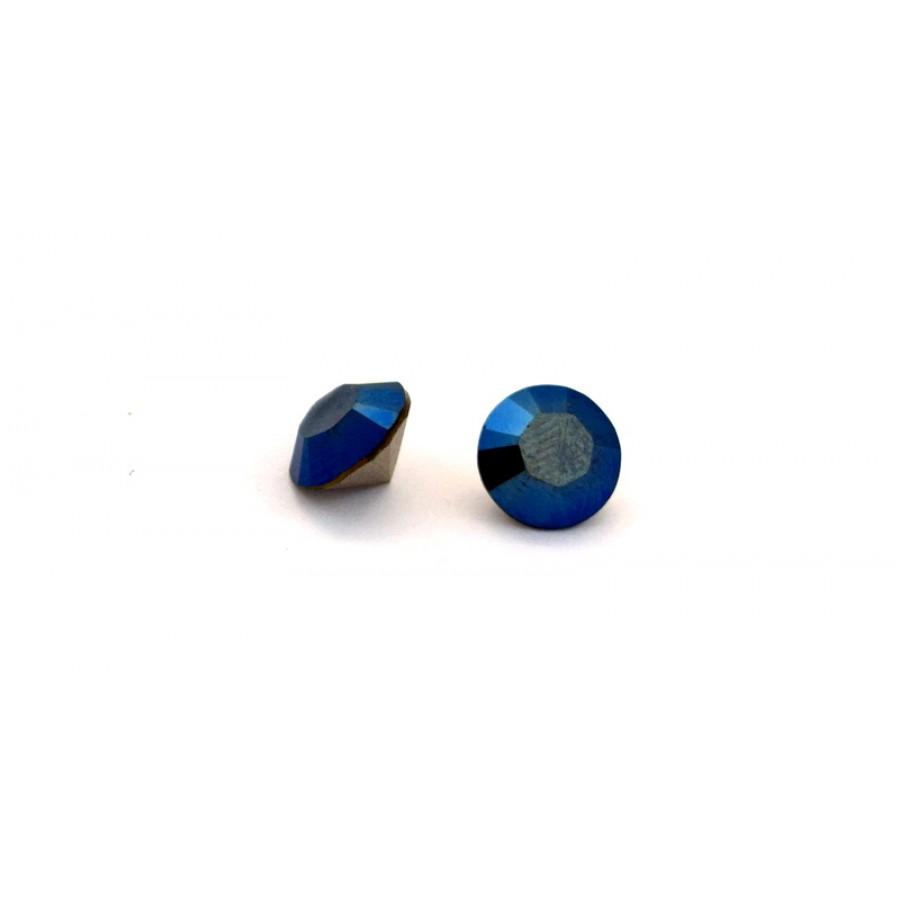 Κρύσταλλο κωνικό SWAROVSKI SS39(~~8.16-8.41mm) σε Crystal Metalic Blue  χρώμα τιμή ανα τεμάχιο
