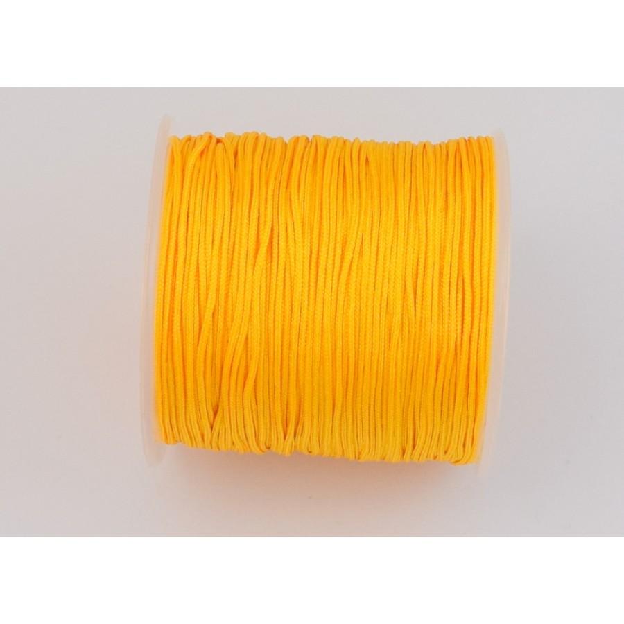 Κορδόνι κατάλληλο για μακραμέ 1mm-ΟΙΚΟΝΟΜΙΚΗ ΣΕΙΡΑ-σε κίτρινο κροκί τιμή ανα καρούλι ~100μέτρα