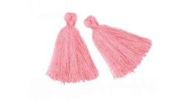 Βαμβακερή φουντίτσα 40mm σε ροζ χρωμα-τιμή ανα τεμάχιο