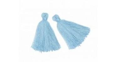 Βαμβακερή  φουντίτσα ±30mm σε γαλάζιο  χρωμα τιμη ανα τεμάχιο