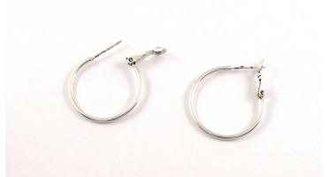 Σκουλαρίκια κρίκοι 25mm  ασημί αντικέ Τιμή ανα ζευγάρι