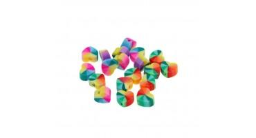 Χάντρες φίμο καρδιά rainbow 10mm-ανα τεμάχιο