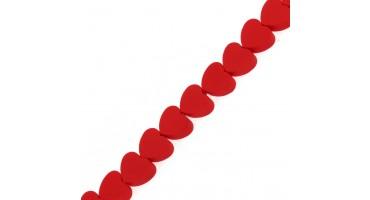 Χάντρα φίμο κόκκινη καρδιά 10mm τιμή ανα τεμάχιο