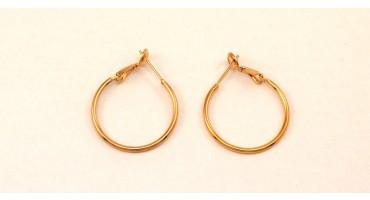 Σκουλαρίκια κρίκοι 25mm σε ροζ χρυσό χρώμα  Τιμή ανά ζευγάρι