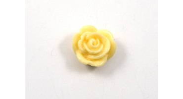 Χάντρα ακρυλική τριαντάφυλλο 14mm σε εκρού χρώμα-ανα τεμάχιο