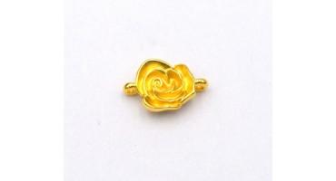 Τριαντάφυλλο 3D με 2 κρικάκια σε επίχρυσο (24Κ) τιμή ανα τεμάχιο
