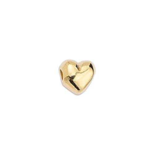 Χάντρα καρδιά επιχρυσωμένη 24κ - τιμή ανά τεμάχιο