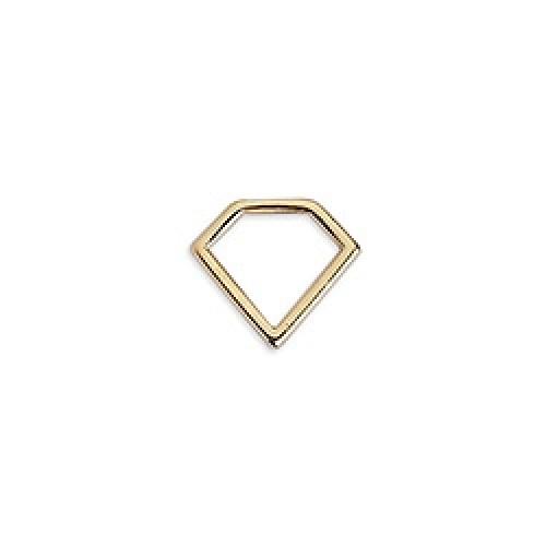 Διαμάντι μίνι περίγραμμα επιχρυσωμένο 24κ - τιμή ανά τεμάχιο