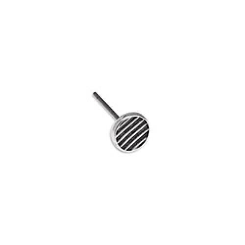 Σκουλαρίκια στρογγυλά με ρίγες 5.9mm με καρφί τιτανίου, ασημί αντικέ-τιμή ανα ζευγάρι(δεν περιλαμβάνονται τα κουμπώματα-πεταλούδες)