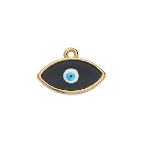 Περίγραμμα μάτι Βιτρώ κρεμαστό επίχρυσο με μαύρο χρώμα-ανα τεμάχιο