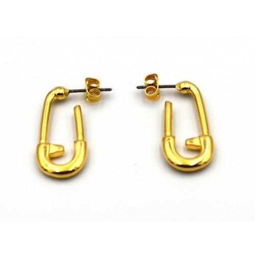 Σκουλαρίκια παραμάνα επιχρυσωμένα (24k) - τιμή ανά ζευγάρι