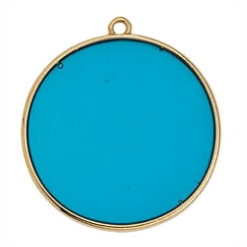 Κύκλος περίγραμμα Bιτρω γαλάζιο 30mm κρεμαστό - τιμή ανά τεμάχιο