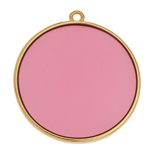 Κύκλος περίγραμμα Bιτρω ροζ 30mm κρεμαστό - τιμή ανά τεμάχιο