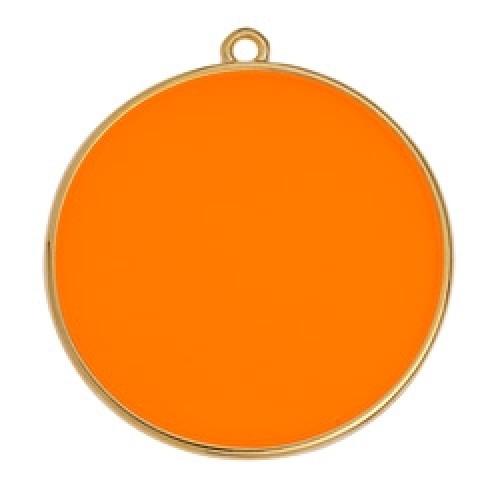 Κύκλος περίγραμμα Bιτρω πορτοκαλί 30mm κρεμαστό - τιμή ανά τεμάχιο