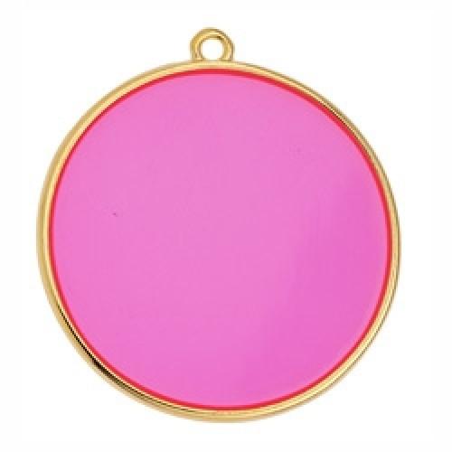 Κύκλος περίγραμμα Bιτρω φούξια 30mm κρεμαστό - τιμή ανά τεμάχιο