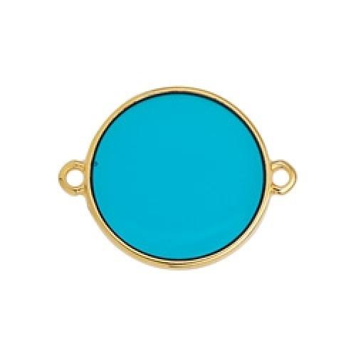 Κύκλος περίγραμμα Bιτρω τιρκουάζ 19mm με 2 κρικάκια - τιμή ανά τεμάχιο