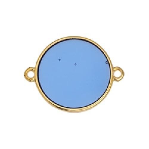 Κύκλος περίγραμμα Bιτρω μπλε 19mm με 2 κρικάκια - τιμή ανά τεμάχιο