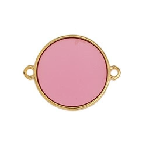 Κύκλος περίγραμμα Bιτρω ροζ 19mm με 2 κρικάκια - τιμή ανά τεμάχιο
