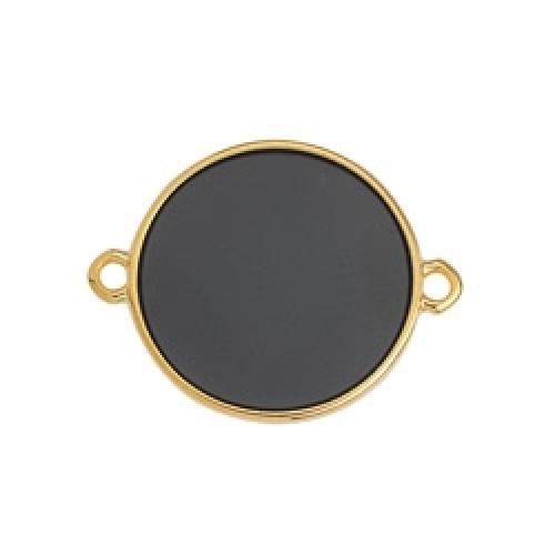 Κύκλος περίγραμμα Bιτρω μαύρο 19mm με 2 κρικάκια - τιμή ανά τεμάχιο