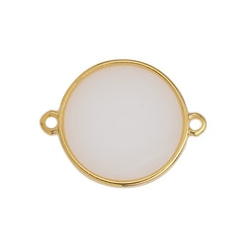 Κύκλος περίγραμμα Bιτρω λευκό οπάλ 19mm με 2 κρικάκια - τιμή ανά τεμάχιο