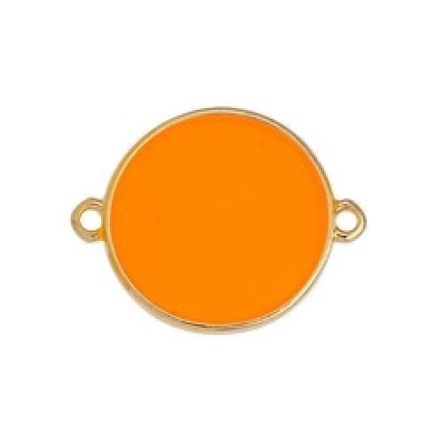 Κύκλος περίγραμμα Bιτρω πορτοκαλί 19mm με 2 κρικάκια - τιμή ανά τεμάχιο
