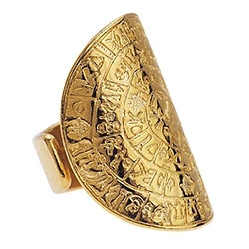 Δαχτυλίδι Φαιστός επιχρυσωμένο 24κ - τιμή ανά τεμάχιο