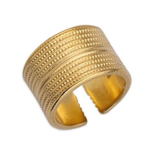 Δαχτυλίδι έθνικ επιχρυσωμένο (24k) - τιμή ανά τεμάχιο
