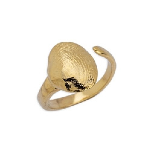 Δαχτυλίδι κοχύλι αχιβάδα 17mm επιχρυσωμένο 24κ - τιμή ανά τεμάχιο