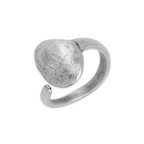 Δαχτυλίδι κοχύλι αχιβάδα 17mm επάργυρο σε ασημί αντικέ - τιμή ανά τεμάχιο