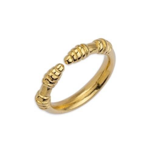 Δαχτυλίδι 17mm με δακτύλιους επιχρυσωμένο 24κ - τιμή ανά τεμάχιο