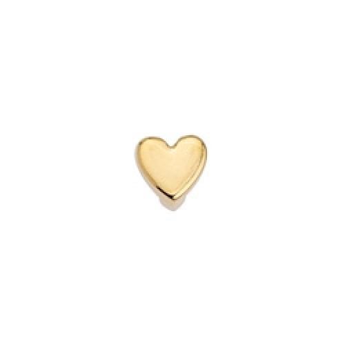 Μοτίφ καρδιά  περαστό grip-it  επίχρυσο-ανά τεμάχιο