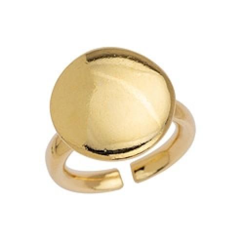 Δαχτυλίδι 17mm αφρικάνικο στρογγυλό σχήμα επιχρυσωμένο 24κ - τιμή ανά τεμάχιο