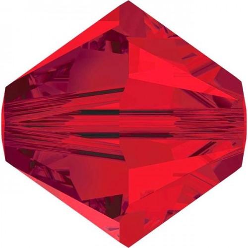 Χάνδρα Swarovski κωνική 6mm με τρύπα 1mm σε κόκκινο χρώμα  Τιμή ανα τεμάχιο