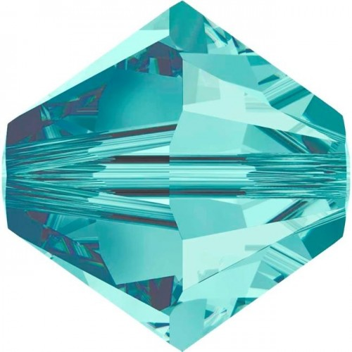 Χάνδρα Swarovski κωνική 6mm με τρύπα 1mm σε blue zircon χρώμα  Τιμή ανα τεμάχιο