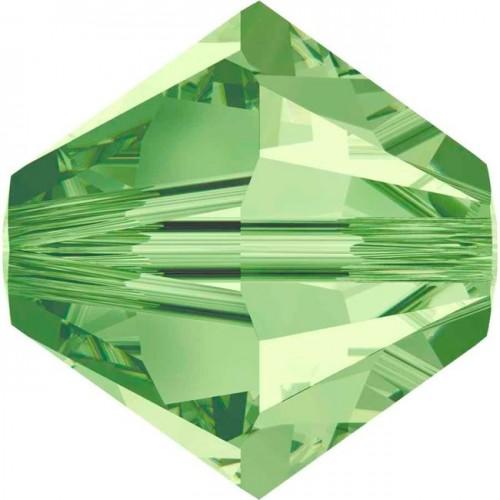 Χάνδρα Swarovski κωνική 6mm με τρύπα 1mm σε peridot χρώμα (πρασινο) Τιμή ανα τεμάχιο