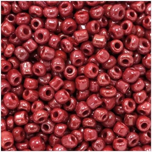 Χάντρες ροκάι  νούμερο 8  σε ρόζ INDIAN χρώμα τιμή συσκευασίας 20 γραμμαρίων