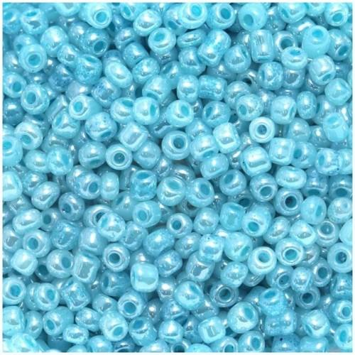 Χάντρες Ροκάι νούμερο 8 σε μπλε air blue χρώμα τιμή συσκευασίας 20 γραμμαρίων
