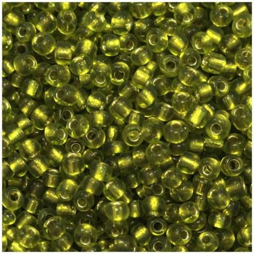 Ψιλές χαντρούλες ροκάι σε ΠΡΆΣΙΝΟ ΛΑΔΊ χρώμα τιμή συσκευασίας 20 γραμμαρίων
