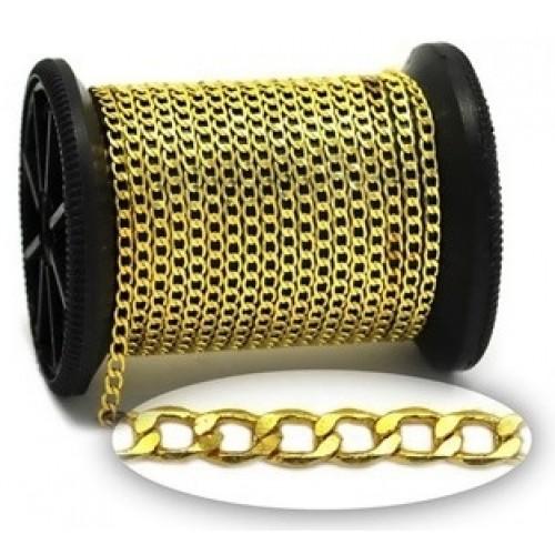 Αλυσίδα Ατσάλινη  Γκουρμέ  σε χρυσαφί-τιμή ανα μισό μετρο