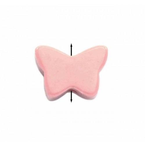 Μίνι πεταλούδα περαστή από φίλντισι σε απαλό ροζ χρώμα-ανα τεμάχιο